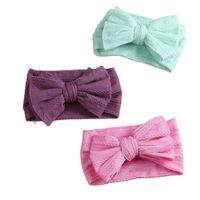 Hair Accessories 1pcs Bows Baby Headbands Double Layer Elastic Born Headband Girl Turban Children Hairbands Kids