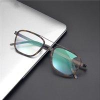 Danimarca Brand Made a mano occhiali telaio Ultra leggero Titanium Men Women Myopia Ottica Occhiali da vista Occhiali da vista 9708 Fashion Sunglasses Frames