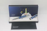 عالية الجودة قليلا الأمير الطيار الأسطوانة القلم الجسم الأزرق والفضة تقليم نقش مع الرقم التسلسلي مكتب المدارس التموين هدية مثالية