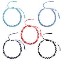 Handmade Knots Rope Bracelet Multi Color Bohemian Tibetan Woven Rope Bracelet Lucky Rope Braided Bracelets For Women Men Jewelry 2927 Q2
