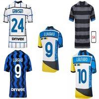 Inter 2021 2022 لكرة القدم جيرسي الرابع الرابع لوكو ميلانو فيدال باريلا لاوتارو eriksen الكسيس هكيمي 21 22 كرة القدم قميص الزي الكبار + أطفال عدة