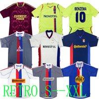 Top Olympique Lyonnais Lyon Retro Futebol Jerseys 00 01 02 08 09 10 11 Carriere Bak Govou Lisandro Gourcuff Toulalan Juninho Bastos Benzema Maillot de Football Shirt