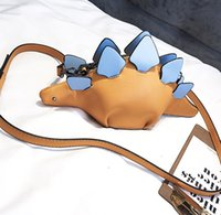 Halloween and Christmas gifts, girls and children fashion doll shoulder bag, cartoon dinosaur design, mobile phone mini, convenient for shopping and travel