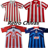 Retro Clássico Chivas Regal 1996 1997 2007 2006 Jerseys de futebol Guadalajara 60th 100th 115th Years Camisa de futebol