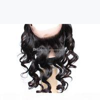 Coiffure humaine brésilienne glamour 360 frontale avec bébé cheveux 8-20in lâche vague péruvienne malaisienne indienne eurasien cheveux cheveux 360 dentelle fermeture frontale