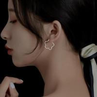 스터드 Kofsac 2021 여성을위한 간단한 할로우 꽃 실기 925 스털링 실버 쥬얼리 우아한 세련된 귀걸이 레이디 데일리 착용 Joyas