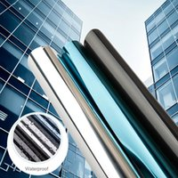 10m Sun Protection Silver Window Film One Way Mirror Reflective Solar Tint Pravicy Anti-UV Self-adhesive Glass Building Color Stickers