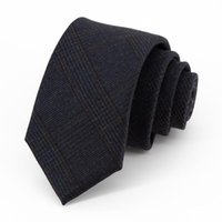 Bow Ties Brand Designer British Style For Men High Quality 7 CM Plaid Business Dress Necktie Male Party Wedding With Gift Box