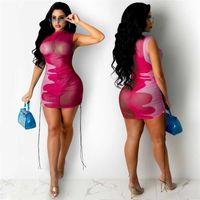 Damska Gazeta Drukowana Damska Sukienka Suzyder Dresses Dresses Designer Moda Summer Wed Sling Krótka Spódnica Seksowna Damska Dorywczo Dres