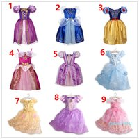 New Baby Girls Dresses Children Girl Princess Dresses Wedding Dress Kids Birthday Party Halloween Cosplay Costume Costume Clothes 9 Colour