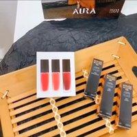 2021 Lips Maquiagem Gold Lip Gloss 3 Pcs / Set Aniversário Edição Limitada Férias Matte Líquido Batom Valentine Lipgloss Kit