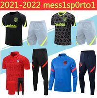 2020 Adult +kids Atletico veste survêtement de football 20 21 Atletico Madrid COSTA de Football Maillot Survêtement Survêtement longue fermeture éclair