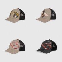 디자인 타이거 동물 모자 수 놓은 뱀 남자의 브랜드 메쉬 모자 남자와 여자의 야구 모자 조정 가능한 골프 스포츠 3888 HH 캡