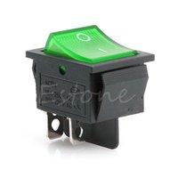 Interrupteur à bascule de contrôle de la maison intelligente avec la lumière KCD4-201N 4 broches ON / OFF 2 Position 250V DPST 1/5 / 10PCS D55F