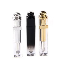 4.5ML Upscale Lip Gloss Tubes Square Empty Lipgloss Packing Bottles Lips Balm Containers With Screw Cap Gold and Silver TKGK