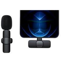 Microfoons IcReative M12 Draadloze microfoonsysteem met oplaadbare zender Reaveiver Revers Lavalier voor smartphone-computer