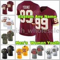 2021 Redskins American Football Jerseys Chase 99 Junge Jersey Terry 17 Mclaurin Antonio 24 Gibson Sammy 33 Baudh Bobby 49 Mitchell John 44 Riggins Custom genittelt