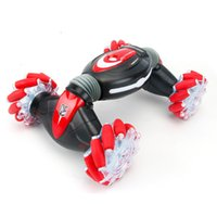 New twisted deformation gesture induction wireless remote control car children's toys light drift twist stunt off-road vehicle