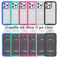 2 in 1 Clear Acrylic Armor Phone Cases for iPhone 13 11 Pro Max XR XS 6 7 8 Plus 12 Mini Soft TPU Bumper PC Frame Cellphone Case