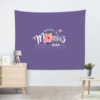 100*150cm Wall Tapestry Happy Mother Day Printed Square Yoga Mat Beach Towel Shawl Landscape Bedroom Decorations GGA4643