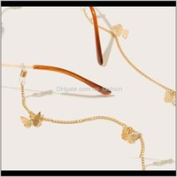 Eyeglasses Chains & Fashion Aessories Drop Delivery 2021 Alloy Butterfly Eyeglass Cord Spectacle Chain Reading Glass String Sunglass Rope Eye