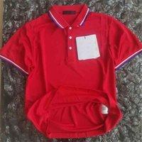 French Big-Name Unisex Polo Camisa de manga corta Solapa de la solapa de secado rápido de los hombres Casual para hombres incluye el código QR 210707