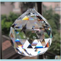 Loose Jewelry Wonderful Hanging Clear Crystal Ball Sphere Prism Pendant Spacer Beads For Home Wedding Glass Lamp Chandelier Decoration Drop