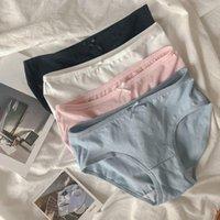 Women's Panties Cotton Female Underpants Sexy For Women Briefs Underwear Plus Size Pantys Lingerie 4Solid Color