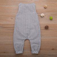 Kafes Bebek Tulum Bebek Ekose Kolsuz Tulumlar Toddler Düğme Onesies 95% Pamuk Yaz Giysileri 060728 179 Y2