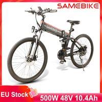 AB hisse senedi siğağı Siparişler lo26 Dağ Elektrikli Bisiklet 30KM / H 48 V 10.4AH 500 W Akıllı Katlanabilir E-Bike 26 '' MOPED Elektrikli Bisiklet