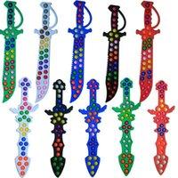 Halloween Fidget Toy Sword Fingertip Bubble Children Rainbow Color Puzzle Sensory Decompression Educational Toys Board Game Gift