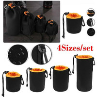 Storage Bags 4Sizes Set Camera Lens Pouch Bag Waterproof Soft Video Case Protector