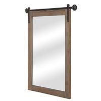 Американский стиль деревянные рамки зеркало европейские ретро настенные висит умывальник Отель Ванная комната планирование косметического квадрата дома