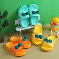 Sandálias Chinelos para Criança Crianças Bebê Meninos Meninas Cartoon Folha 3D Floral Sapatos antiderrapantes Verão Flip Flip Flops Casa de fundo macia