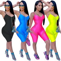 Women's Jumpsuits & Rompers 2021 Basic Sleeveless Playsuits Womens Summer Fashion Elastic Soft Casual Wear Jumpsuit Jogging Sportswear Mujer