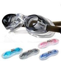 Homens Mulheres Swim Óculos Anti Nevoeiro Proteção UV Óculos Óculos À Prova D 'Água Óculos De Natação Com Ear Plugs