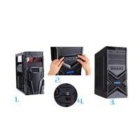팬 냉각 3.5inch PC HDD 4 채널 속도 팬 컨트롤러 컴퓨터 용 파란색 / 빨간색 LED 전면 패널