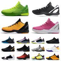 AAA + Качество Мамба Zoom 5 6 Баскетбольные туфли Mambacita Мода BHM Proto Mens 6s Лейкерс Думает Розовый Большой Стадия Мужчины Тренировки 5s Открытый Спортивные кроссовки 40-46