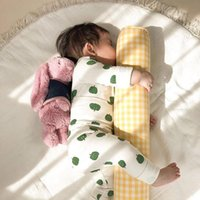 Bedding Sets Cotton Plaid Born Bed Bumper Fence Cot Crib Protector Infant Baby Cylindrical Long Sleeping Support Pillow Throw Cushion