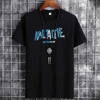 T-shirt rond chemise de chemise d'été coton en coton pour hommes courte de grande tendance décontractée - 8012 orange flash