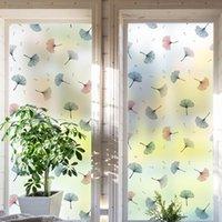 Window Stickers Artic Plant PVC Electrostatic Eindow Paper Color Matte Sticker Bedroom Bathroom Thermal Privacy Glass Film 30-90CM