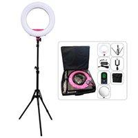 Flash Heads Yidoblo AX-480EII Camera Po Studio Phone Video 18inch 240PCS LED Ring Light Warm & Cold Color Lamp +Tripod + Handbag