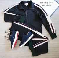 남성 캐주얼 트랙 슈트 패션 편지 패턴 Sweatsuit 남성 정장 클래식 복장 남자 두 조각 바지 봄 자켓