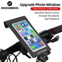 ROCKBROS Bike Phone Bag TPU Touch Screen Bicycle Handlebar Bags MTB Road Bikes Motorcycle Cycling Navigation Phones Holder