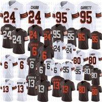 2021 Männer 95 Myles Garrett Fußball Jersey 24 Nick Chubb 6 Bäcker Mayfield 80 Jarvis Landry 13 Odell Beckham JR 1946 Genähte Trikots