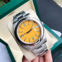 크리스마스 선물 41mm 자동 망 시계 2813 기계적 움직임 스테인레스 스틸 남자 스포츠 시계 남자를위한 손목 시계