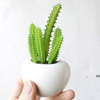 Simülasyon Succulents Bitkiler Çiçekler Bonsai Etli Bitki Saksı Buzdolabı Mıknatıslar Ev Masaüstü Dekor Plastik Saksılar RRD11343