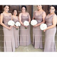 2021 Illusion Neck Cap Sleeves Long Bridesmaid Dresses Sheath Prom Dresses Long Maid Of Honor Gowns Evening Gowns