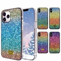 Роскошные Bling Chrinestone Blitter Phone Case для iPhone 6 7 8 Plus X XR XS SE 11 12 Mini Pro Max Diamond Rainbow Colorford