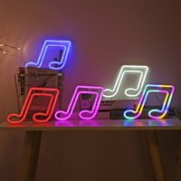 Flexible Silicon Neon Signs Decorative Light Musical Note Design LED NeonLights